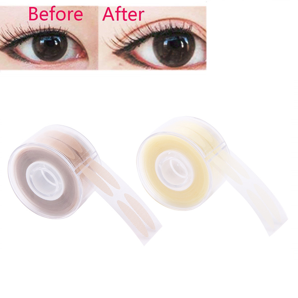 OEM 600 pcs/box Big Eyes Make Up Eyelid Sticker Double Fold Self Adhesive Eyelid Tape Stickers S/L Makeup Clear Beige Color
