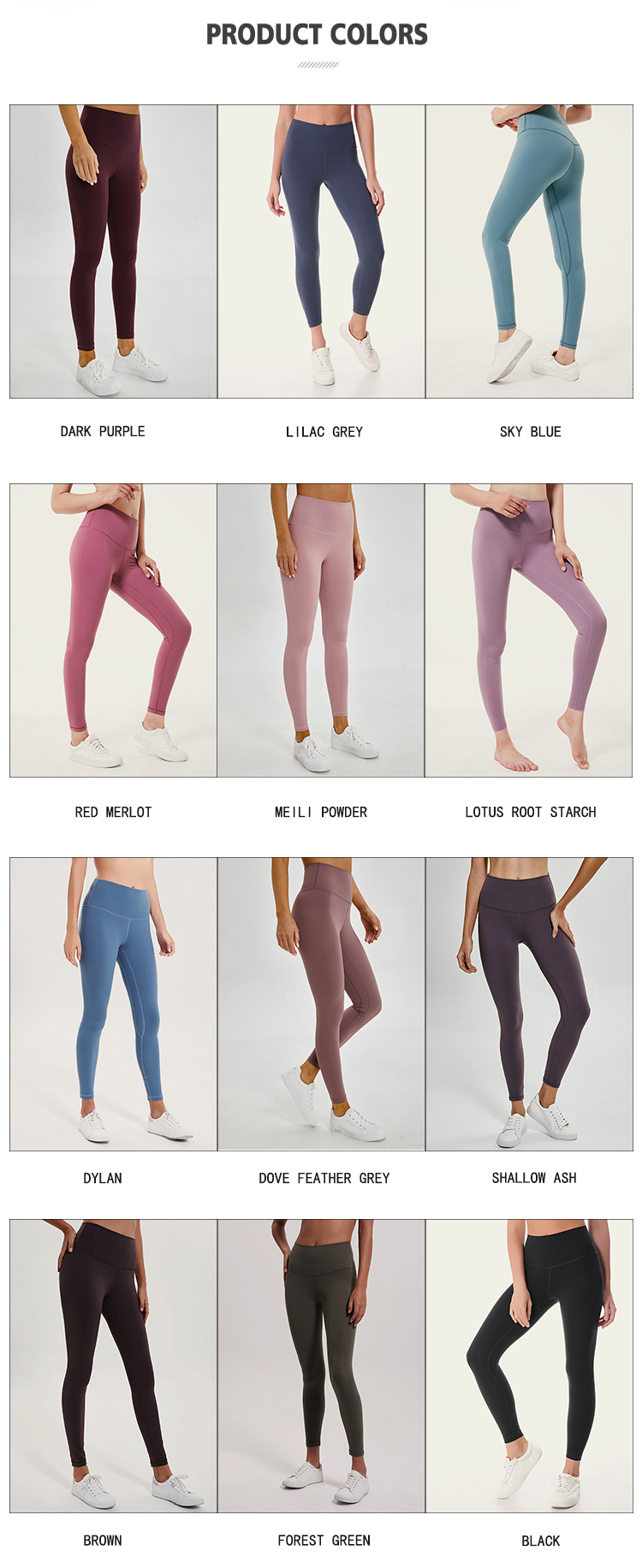 Z18025 no ver a través de sworkout fitness polainas ins lulu alinear leggings repreve leggins con el logotipo del cliente