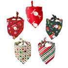 Manufacturer wholesale custom logo design pattern printed cotton pet accessories dog christmas bandana
