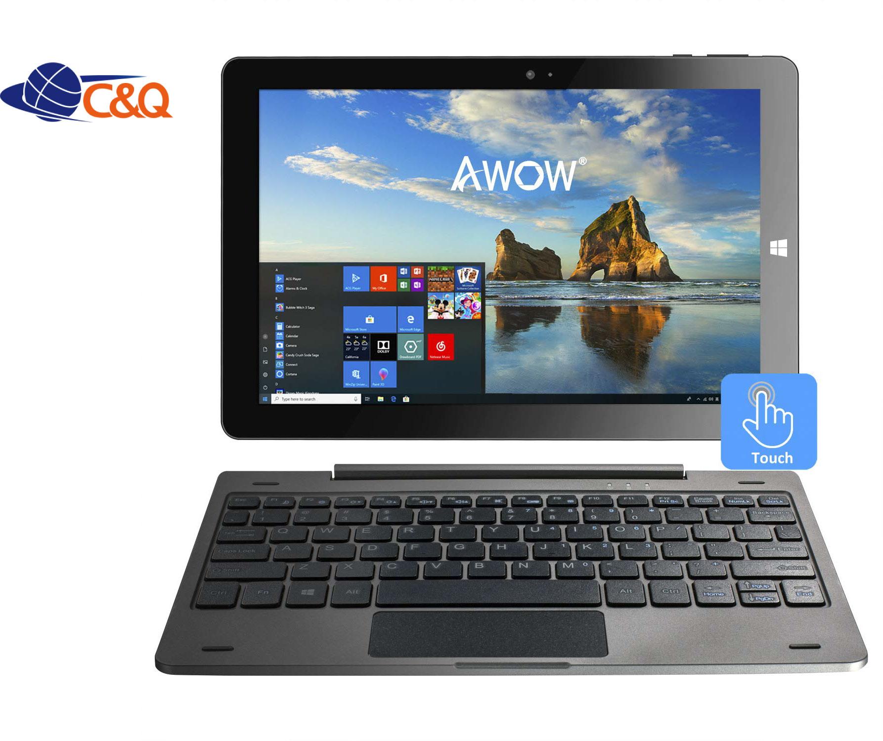 ホット販売 2 で 1 ラップトップのタブレット Pc 10 インチ取り外し可能なキーボード 4 ギガバイト 64 ギガバイトのノートパソコン 2 で 1