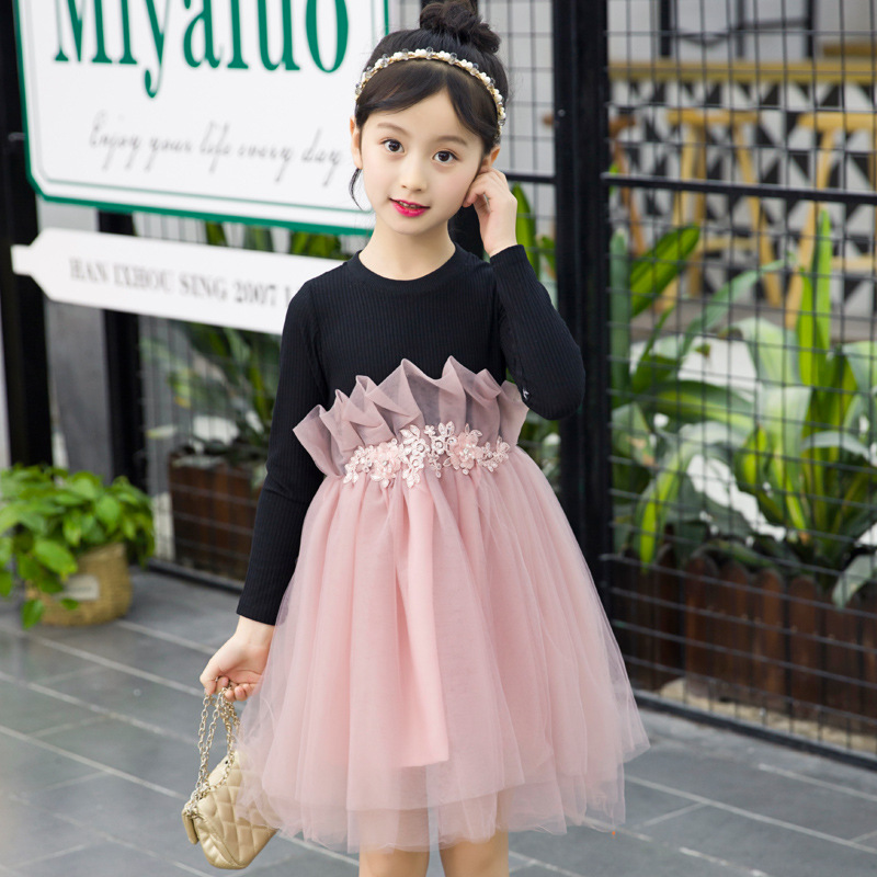 New arrival good designer lace fancy casual princess kids girls sweet dress with chinese supplier