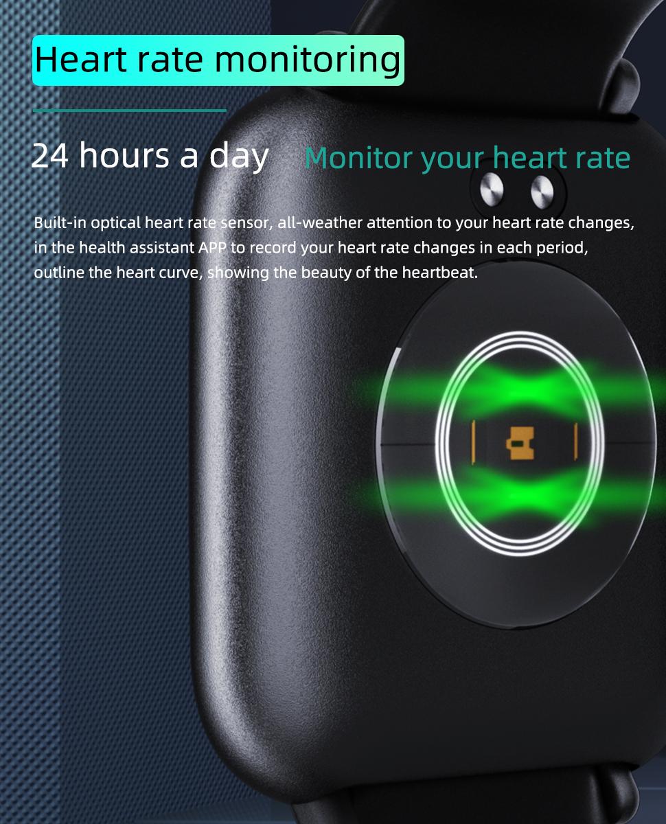 2019 new 1.3inch smart watch IP68 smartwatch Q1 with 2 straps for men women heart rat monitoring sport smart bracelet