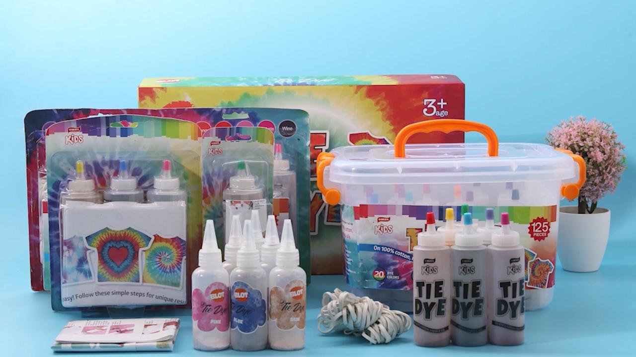 BLOT BRPT800001   Diy Toys  Cotton Silk Fabric T-shirt Pigment Custom One-step Tie-dye Party Paint  Kit For Kids