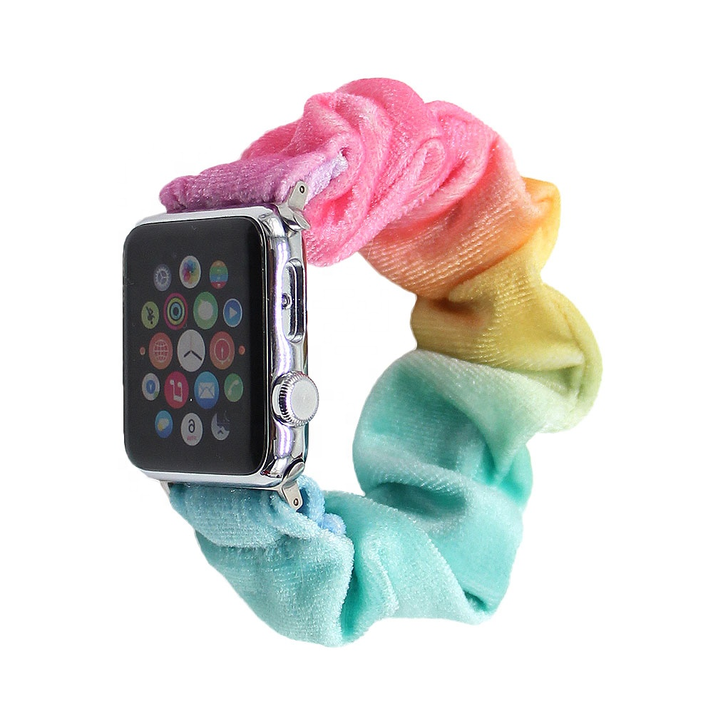 Wholesale Apple Watch Band Iwatch 38mm/40mm/42mm Apple Watch Band adapter For Scrunchies For Women