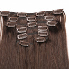 Popular virgin cuticle hair extension clip in style