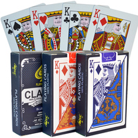 High quality classic PVC 100% new plastic naipes poker cards set playing cards in bulk barajas de cartas de poker