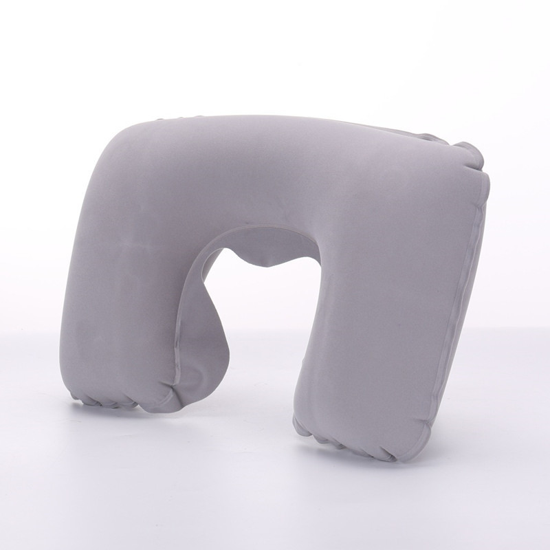 Inflatable U Shape Neck Cushion Travel Pillow Office Airplane Driving Nap Support