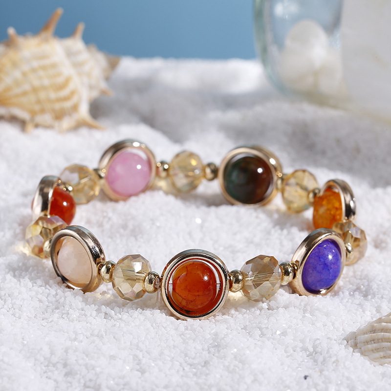 product-Summer Bohemia Style Multi Colored Stone Beaded Bracelet For Women-BEYALY-img-1