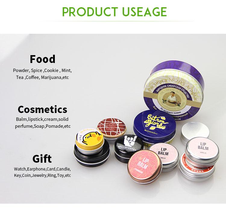 Customized Personal Logo 1oz aluminum tin BOX WITH WINDOW cosmetic jar