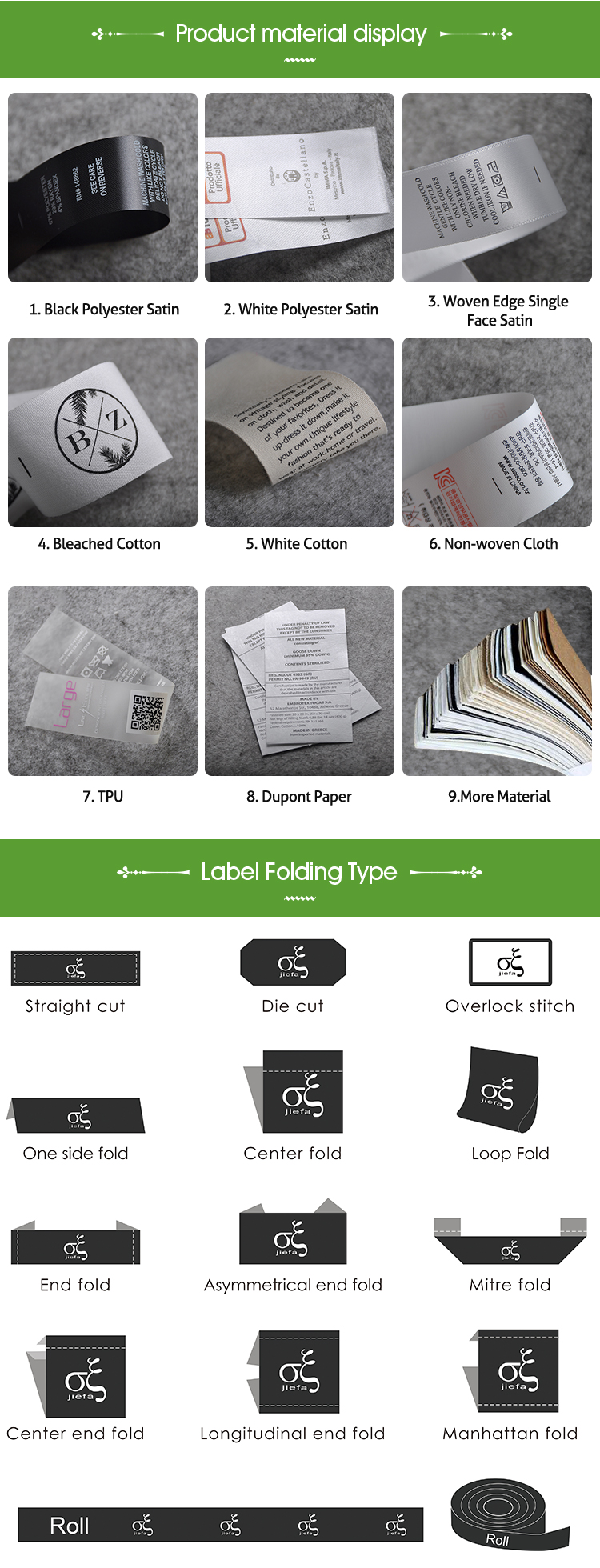 Sew On Design Custom Clothing Brand Name Screen Printed 100% Cotton Canvas Main Garments Labels