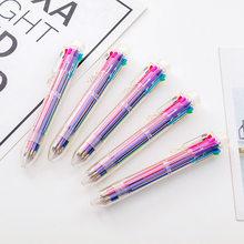6 шт. Корейская Конфета 8 цветов прозрачная штанга шариковая ручка граффити ручка Студенческая Шариковая ручка Канцтовары оптом(Китай)