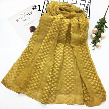 fashion high quality cotton hemp dot  scarves   muslim shawl scarf  hijab