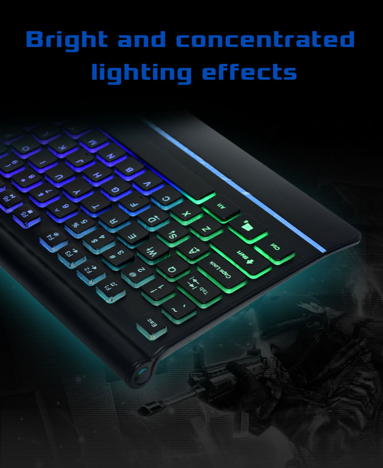 Hot Gaming Accessories Rainbow Backlit Wired Gaming Keyboard For Pc Gamer