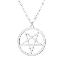 Большой Талисман Baphomet ожерелье, цепочка из нержавеющей стали, кулон для мужчин, козла сатана, сатана, сатаник, шпилька, Люцифер, патчи(Китай)