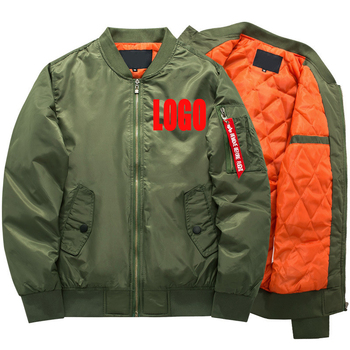 NaLu wholesale Custom your logo Ma1 Winter Military army Thick air bomber men's jackets