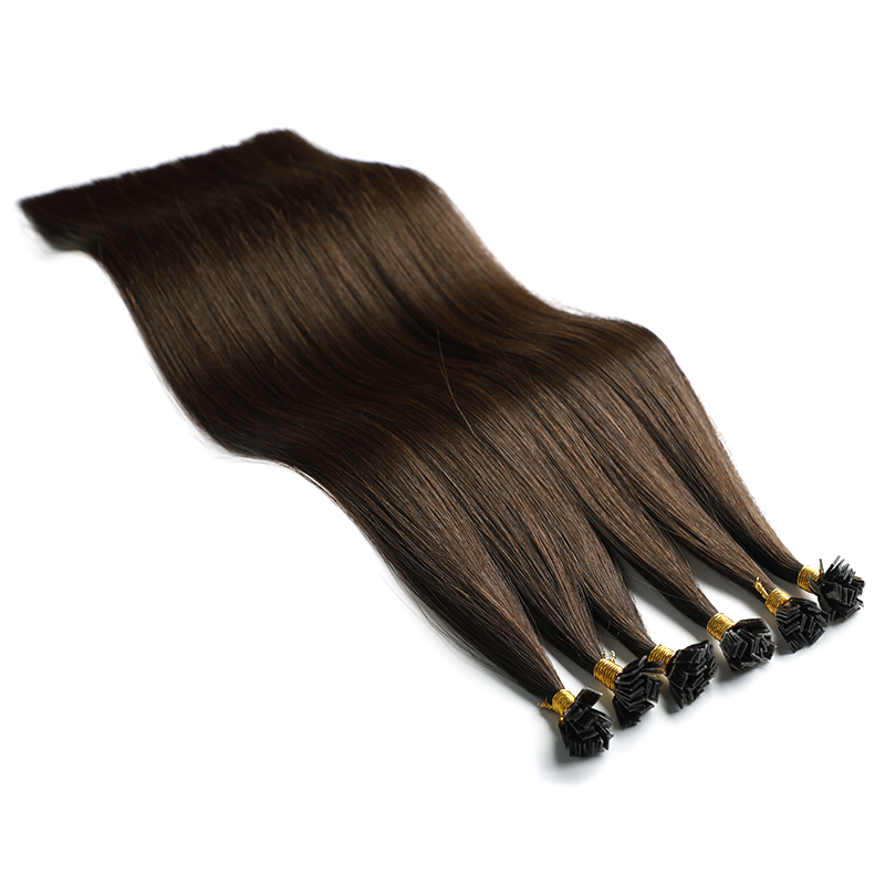 Double Drawn Keratin Cuticle Flat Tip Human Remy Hair Vendors