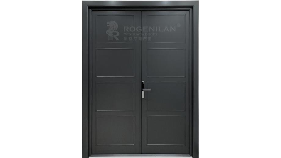Modern honeycomb aluminum plate double french door designs
