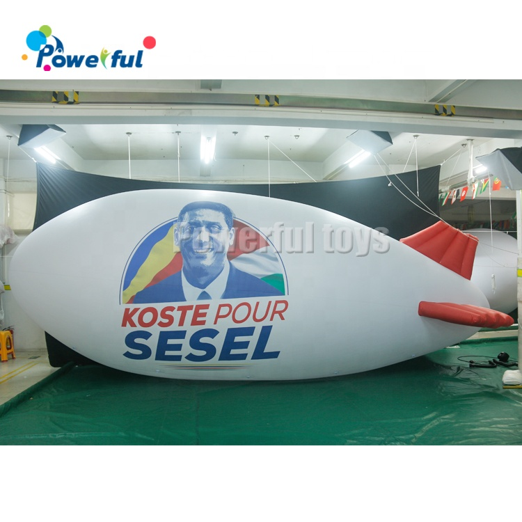 8m Giant inflatable advertising blimp flying helium blimp balloon