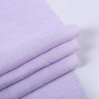 Various color ready made plain style organic soft bulk custom linen fabric for shirt