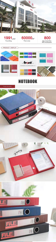 Bureau professionnel papeterie dépôt personnalisé impression A4 taille en plastique pp document boîte fichier