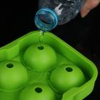 Hot Sale Custom Whiskey Sphere Round Ice Ball Maker Silicone Ice Cube Tray Moulds