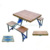 Portable Outdoor Suitcase Camping Aluminum Wood Folding Picnic Table and Chair Set