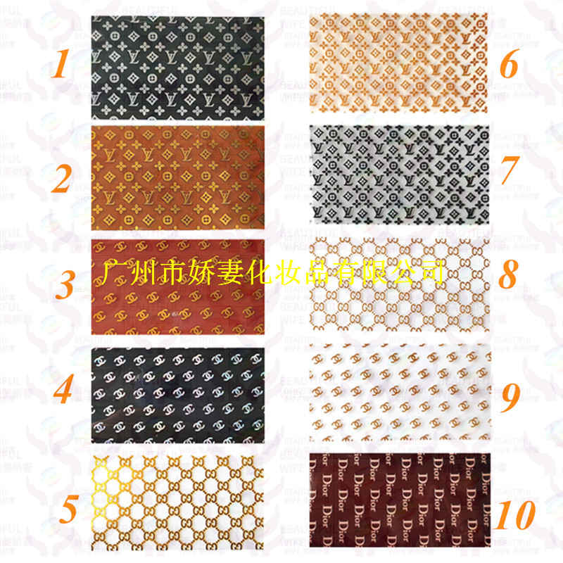 2020 factory LOGO transfer foil  Nail foil for nail art  sticker for the nail art decoration LOGO FOIL