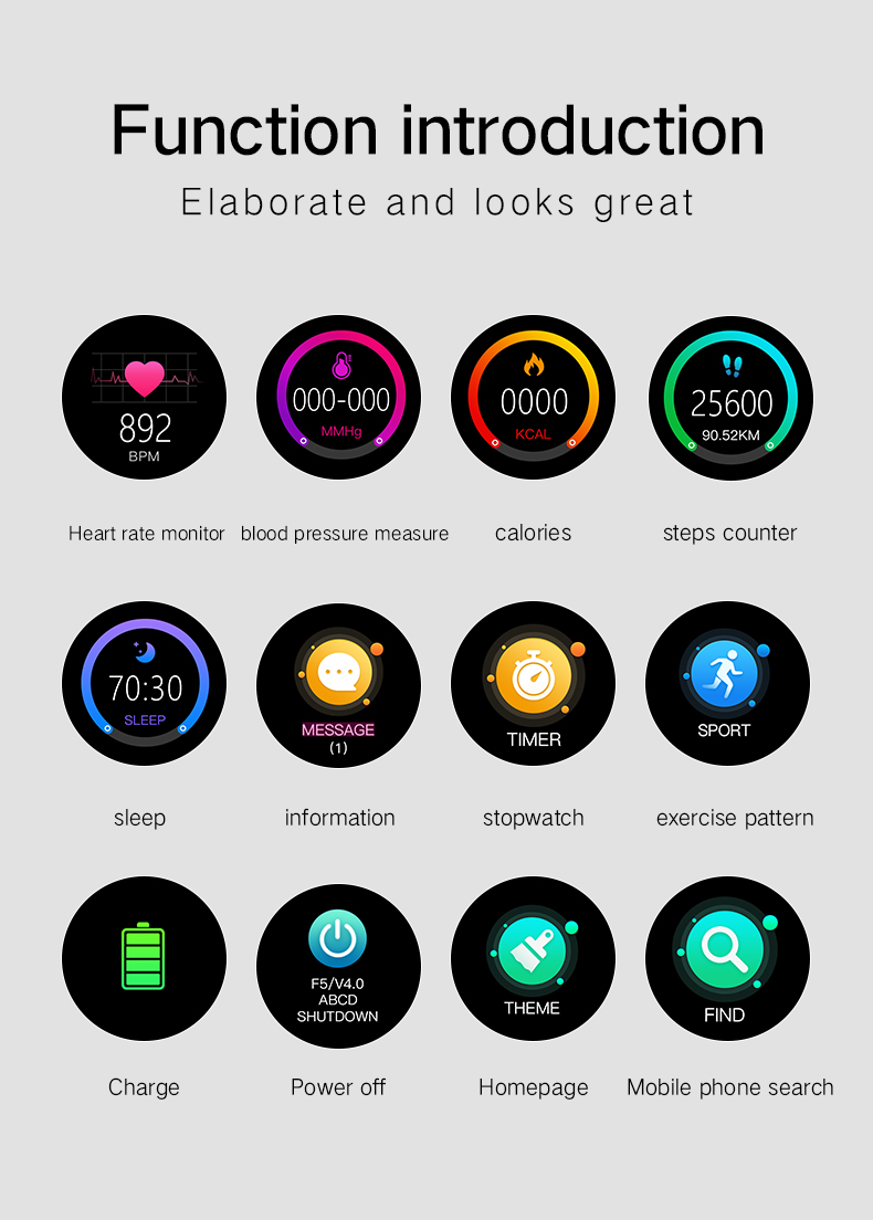 P6 Hot-selling Multi-function smart watch IP67 Waterproof Fitness Tracker Bluetooth Smart Bracelet 2019