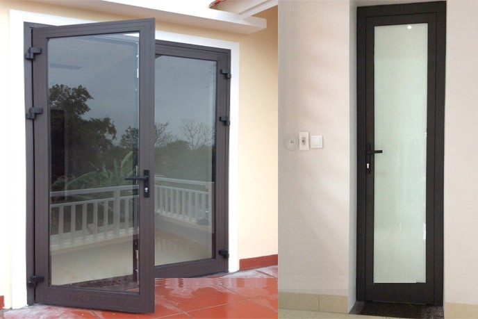 product-Zhongtai-Surface Finished Aluminum Tempered Glass Patio Swing Door Interior Swinging Door-im-1