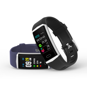 GPS Fitness tracker smart bracelet with dynamic heart rate and blood pressure monitor and multi-sport modes