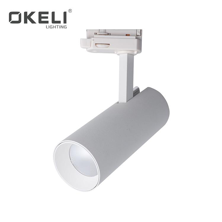 OKELI art gallery jewelry display indoor adjustable angle 10w 16w 24w 32w led track lights