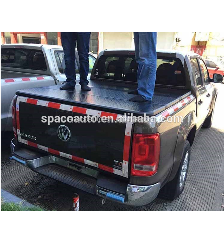 Pickup Truck Hard Tri-Fold Bed Cover Tacoma 2016+