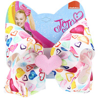 Cross-border Hot-selling jojo siwa Loving Heart Bow Hairpins Valentine's Day Baby Gift 8-inch Children's Hair Clip