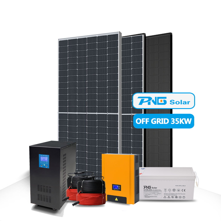 Home Use 35kw Photovoltaic System Solar Power System Off Grid Kit Solar System 35Kw