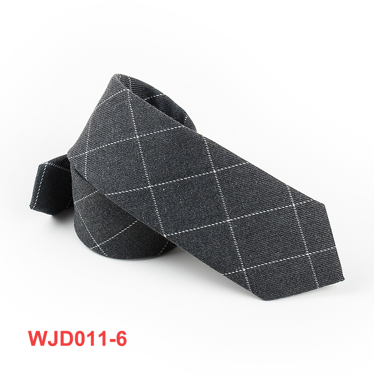 Multicolor Cotton Checkered Pattern Neck Ties Mens Woven Check Necktie
