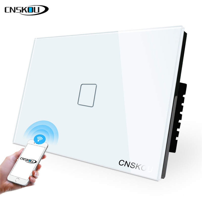 US standard 1 gang smart home phone app control touch screen wifi light <strong>switch</strong>