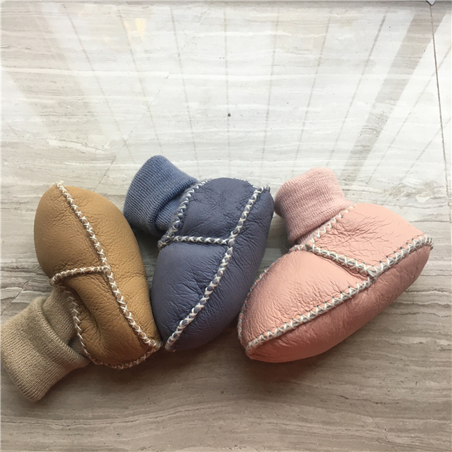 China suppliers sheepskin fur baby boots