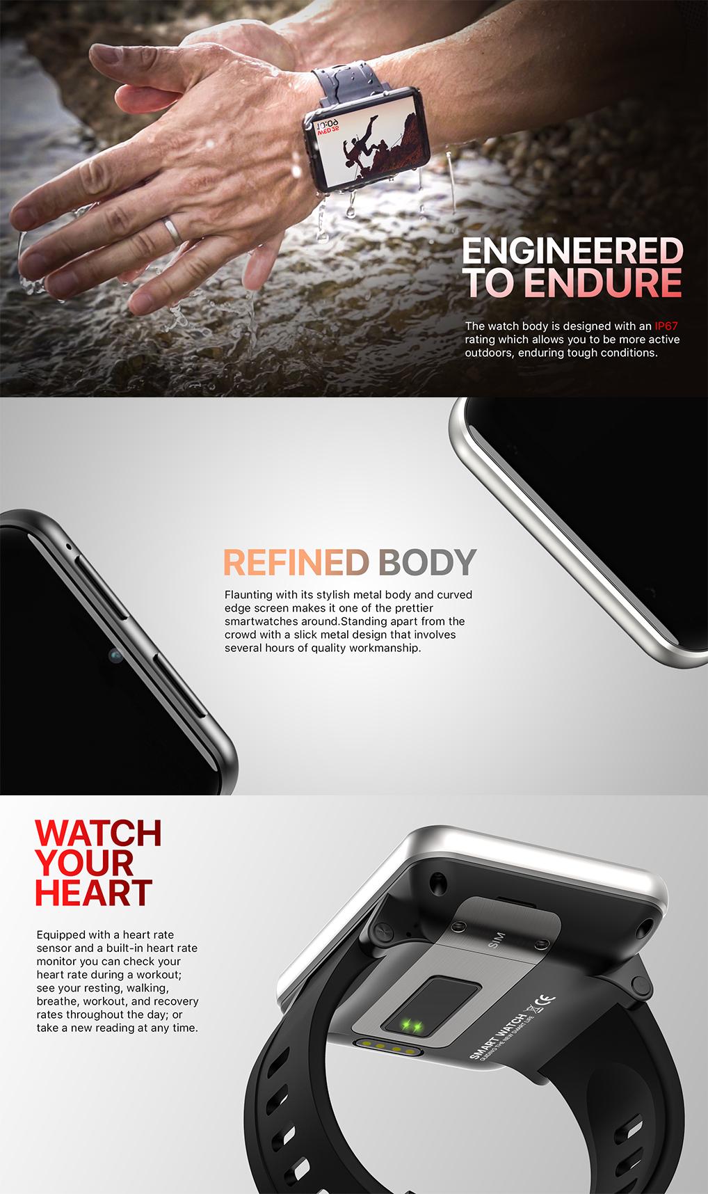 2020 Nóng Bán Đồng Hồ Thông Minh DM100 Smartwatch Với Máy Ảnh Bluetooth SmartWatch Hỗ Trợ Android