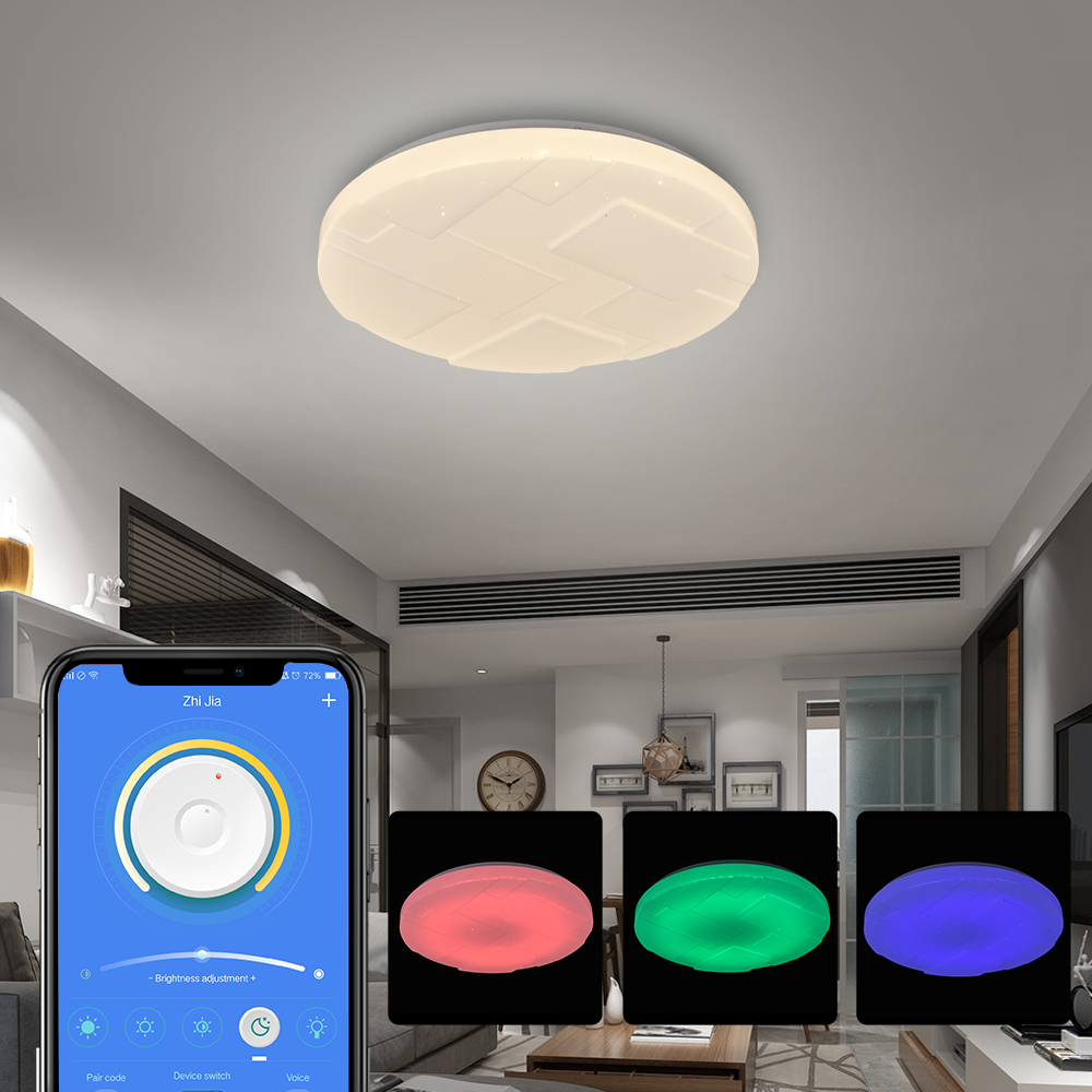 Shenzhen Led Plafon Rgb 2.4G Led Ceilling Lamp Modern New Smart Control Light Lamparas de techo for Living Room Bathroom Fixture