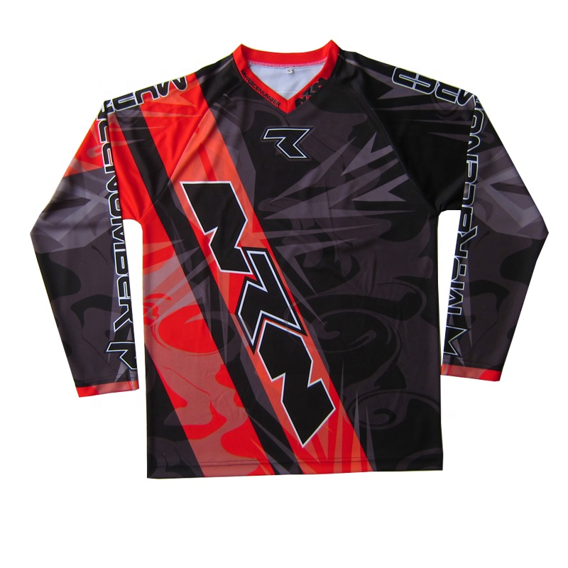 long sleeves Motocross Jersey men's MX Gear Sport Off Road Dirt-Bike Jersey