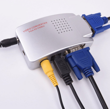 NTSC PAL VGA a TV RCA AV Segnale Adattatore Video <span class=keywords><strong>Converter</strong></span> Switch Box Composito per il Computer Portatile Del <span class=keywords><strong>PC</strong></span>