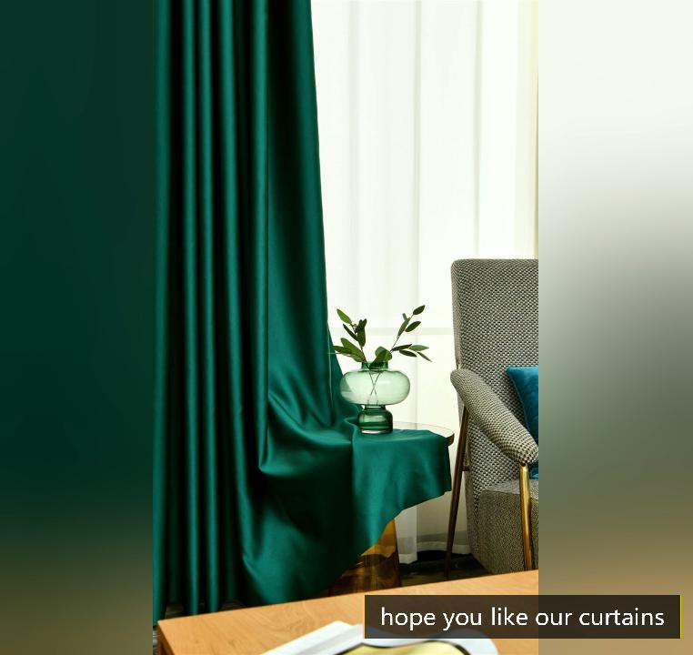 Ebay хит продаж атласная шелковая уплотненная занавеска