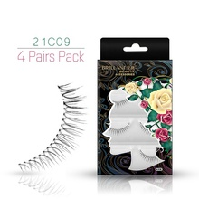 4 Pairs Multi Pack invisibile band Ciglia Ciglia Fornitore Prime Fibra Sintetica 3D Striscia di Ciglia Per Private Label
