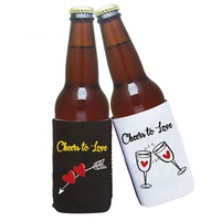 New fashion printed custom neoprene can cooler drink beer bottle sleeve stubby holder best for promotional gift party wedding