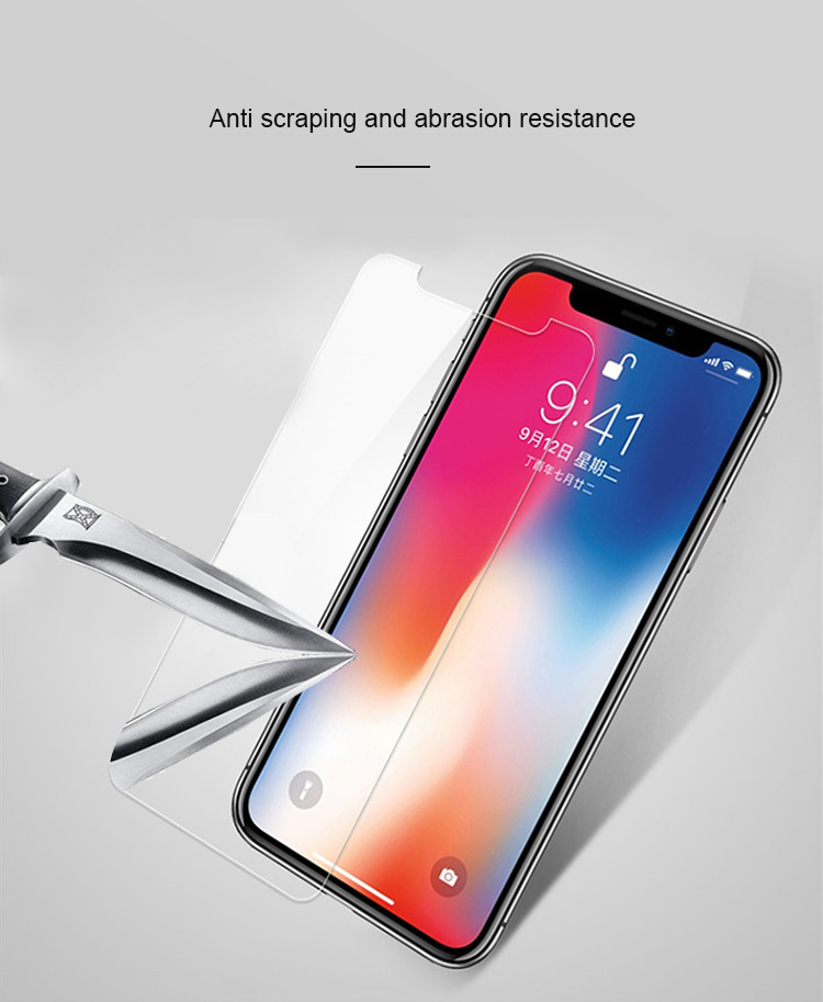 Amazon China Supplier 9H 2.5D Front Back Mobile Phone Screen Protector 0.33mm Tempered Glass For iPhone Xs/Xr