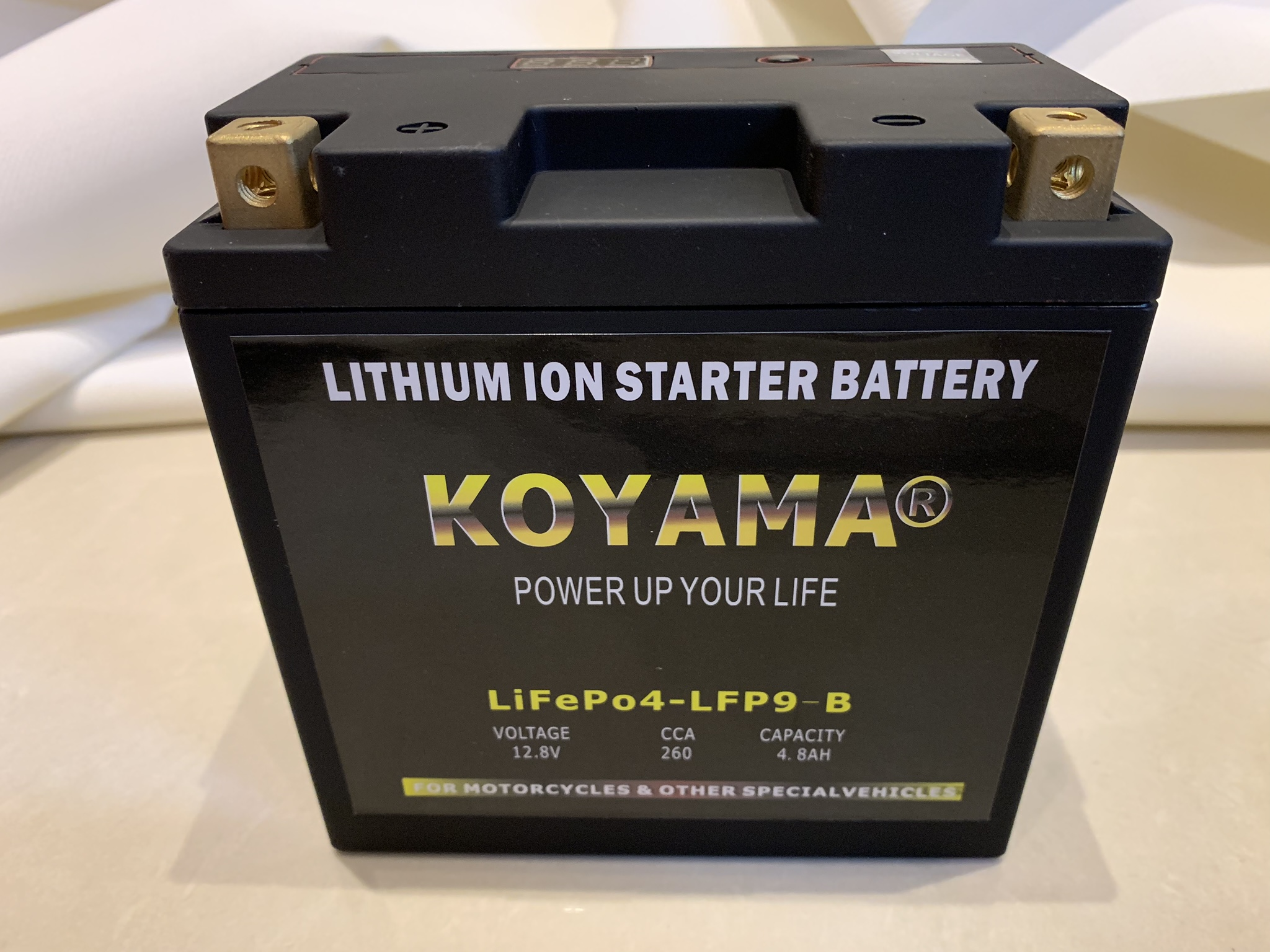 LiFePO4 motorcycle battery LFP9-B/YB9-BS Lithium ion motor battery ...