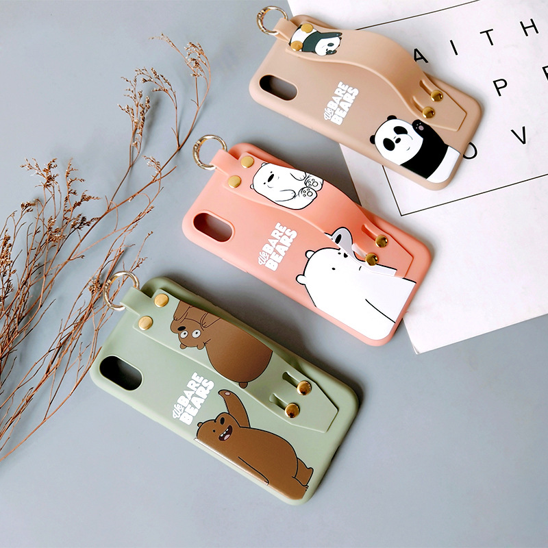 Custom Design Wrist Strap Holder Cartoon mobile phone Case custom Mobile Phone <strong>Accessories</strong> for iPhone 11 case