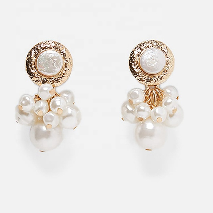 Luxury <strong>pearl</strong> <strong>stud</strong> <strong>earrings</strong> ladies <strong>pearl</strong> cluster <strong>earrings</strong>