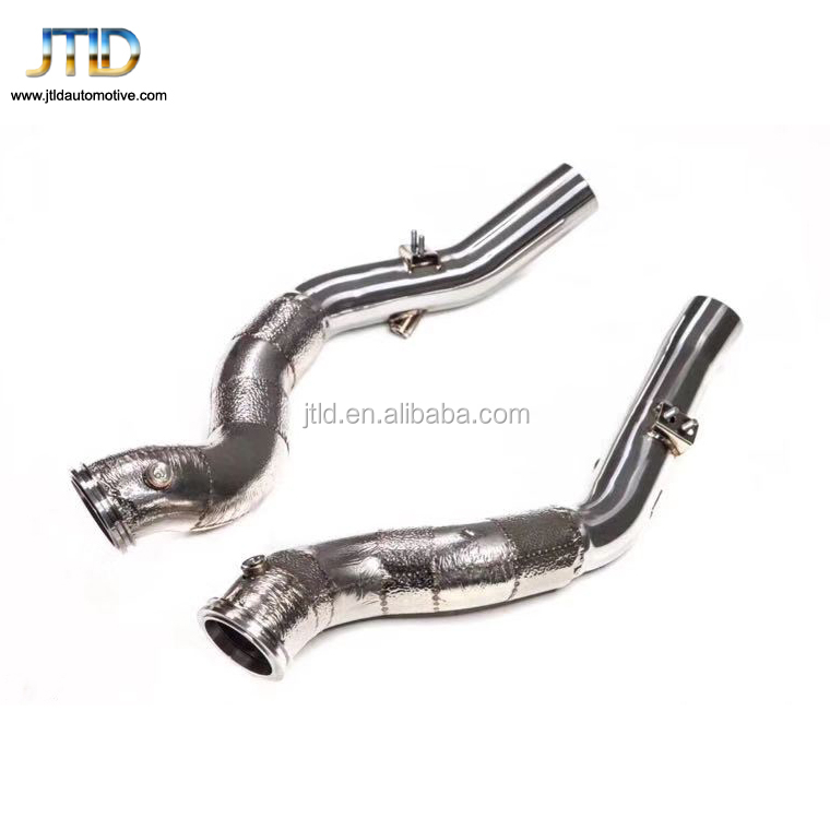 high quality exhaust downpipe for Maserati Quattroporte