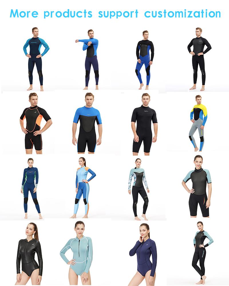 Kustom Spearfishing Pakaian Renang, Neoprene Canyoning Desain 1 Buah Baju untuk Wanita